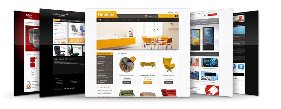 Thiết kế website giới thiệu theo mẫu.