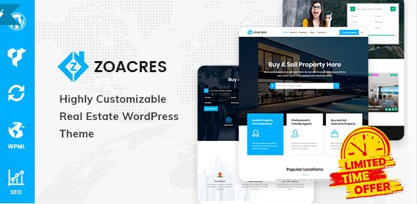 Zoacres – Real Estate WordPress Theme