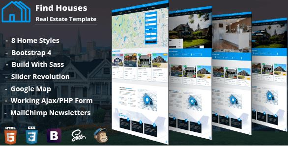 Find Houses – Real Estate HTML Template