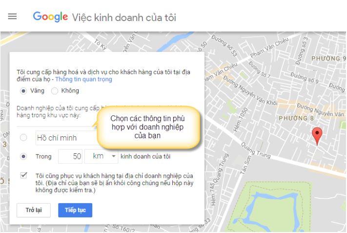 Đưa địa chỉ doanh nghiệp lên Google Map.