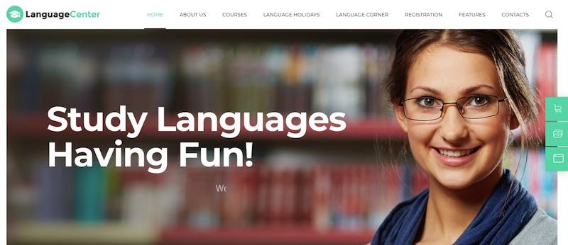 Quảng cáo bằng cách thiết kế website trung tâm ngoại ngữ