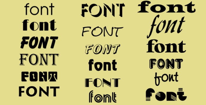 Font chữ dùng trong logo