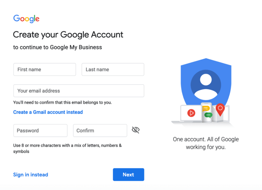 Đăng ký Google My Business